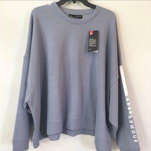 UnderArmour Gray Lavender Over-Sized Sweatshirt XL